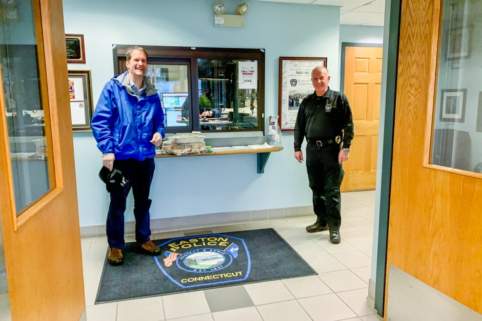 Congressman Jim Himes visits Easton, CT Police Department