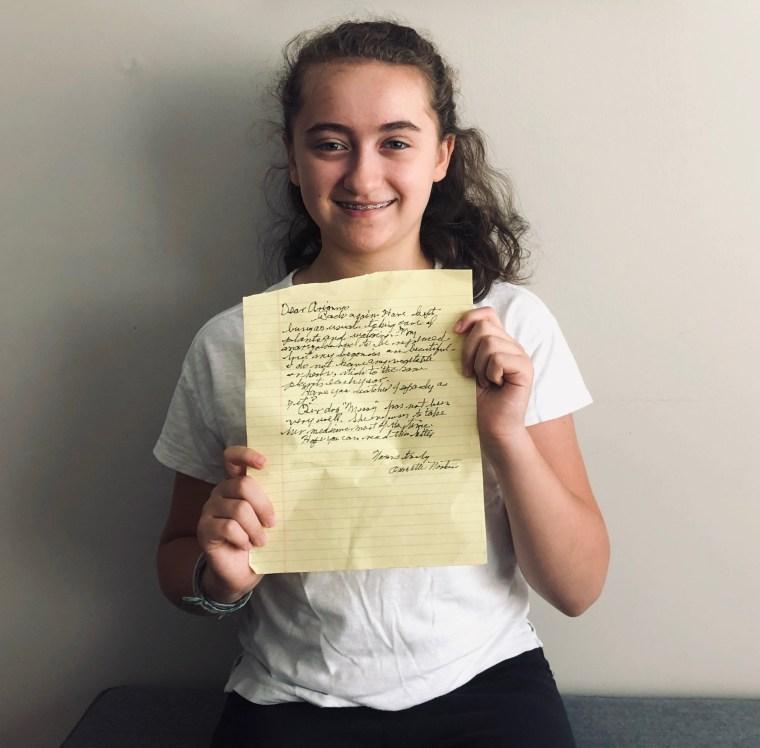 Ariana Pereira, Helen Keller Middle School student