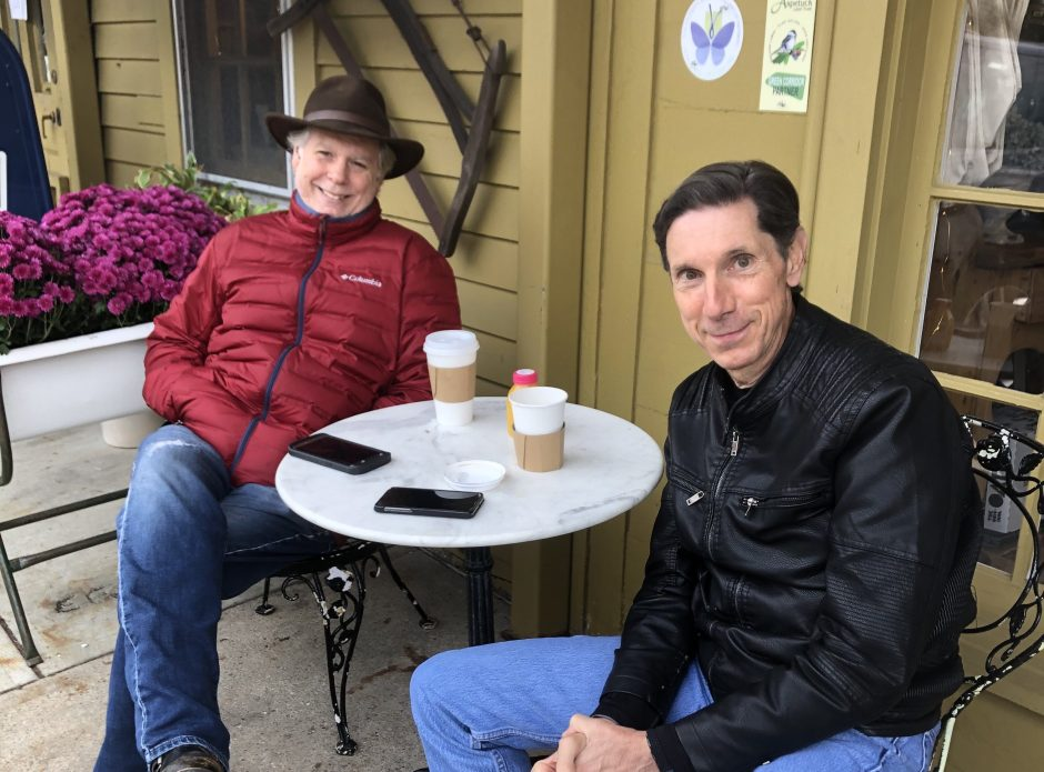 Art Powers and Mike Grosso at Greiser's Coffee & Market