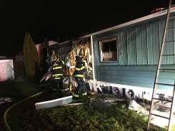 The Easton Fire Department extinguished a fire at a mobile home early this morning. (Courtesy Photo Easton Fire)