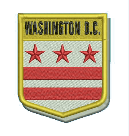 DC Shield State Flag Patch_sew