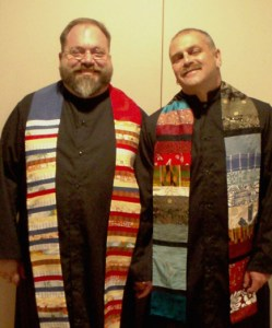 Rev. Denis with his husband, Joe