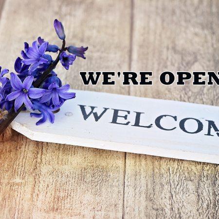 We're open welcome