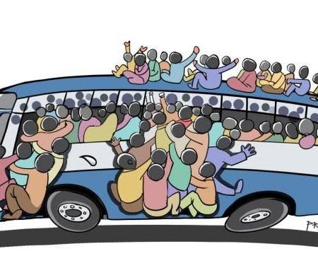 Bus full of people