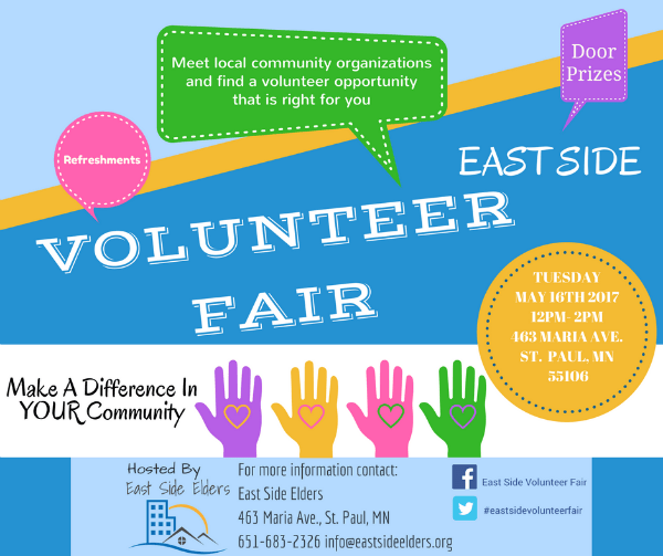 East Side Volunteer Fair – May 16