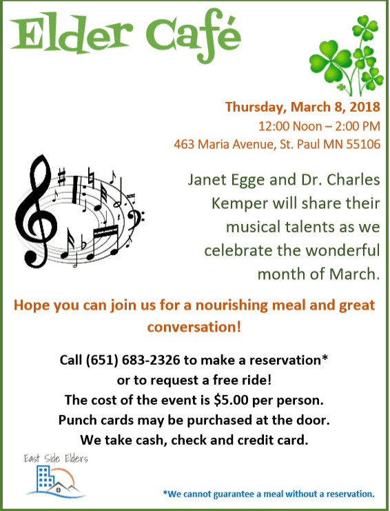 March Elder Cafe – RSVP today!