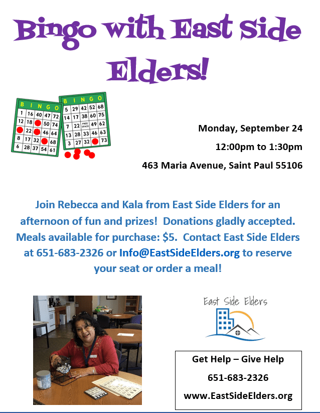 Bingo with East Side Elders