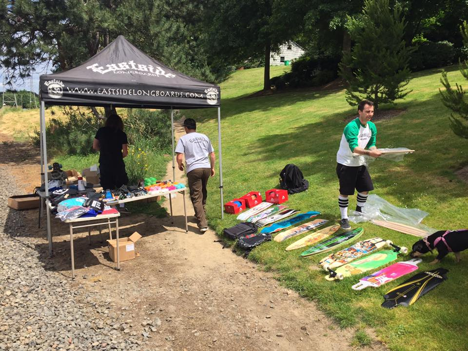 Getting all the prizes laid out, 19 boards!
