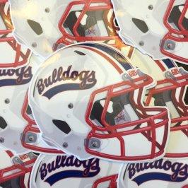 Garfield Bulldogs Football Helmet 1997
