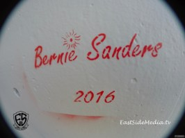 Bernie Sanders stencil art Boyle Heights
