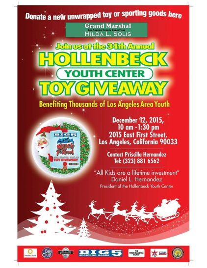 Miracle on 1st Street Toy Drive Hollenbeck Youth Center 2015