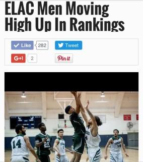 ELAC Basketball vs Long Beach City College