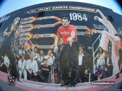 The Karate Kid 1984 mural Encino