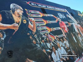 The Karate Kid 1984 mural Encino