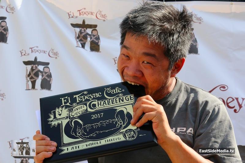 El Tepeyac Cafe 1st ever Manuel's Special Burrito Challenge