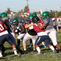 Garfield hosts Carson, Upland in football scrimmage