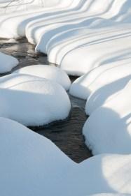 Deep snow in Fargo Brook.