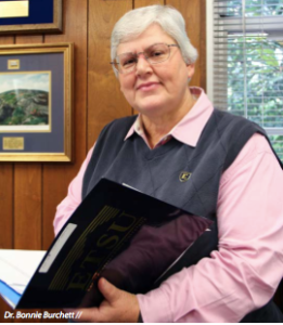 Director of Housing and Residence Life, Dr. Bonnie Burchett, started at ETSU as a student in 1972, and has been here ever since. (Photograph by: Tijana Stevanovic, Illuminated Magazine)