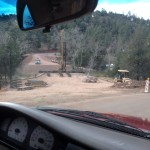 driving in footers at the third crossing.