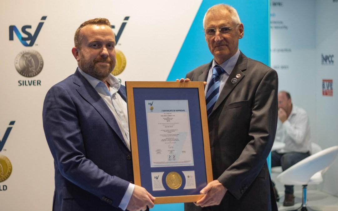 EWC receive NSI Gold Award