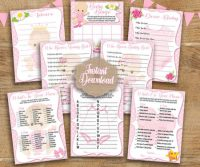 8 Printable Baby shower games for girls