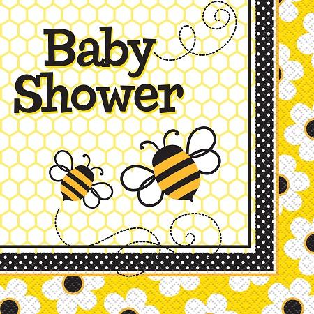 Bee baby shower napkins