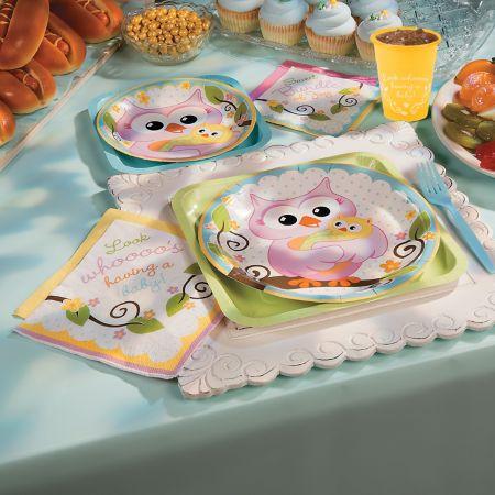 Owl baby shower for girls