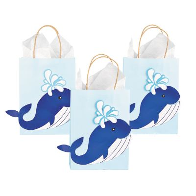 12 Whale themed party gift bags