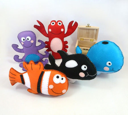 DIY Felt sea creatures pattern