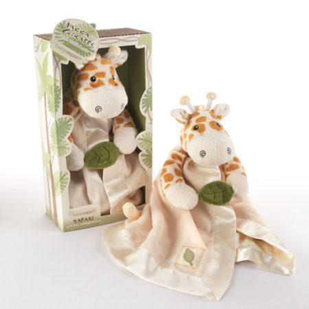 Giraffe baby lovey blanket