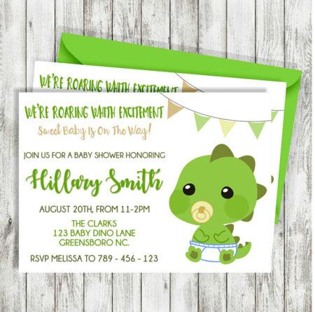 Dinosaur Baby shower invitation printable
