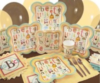 alphabet baby shower supplies
