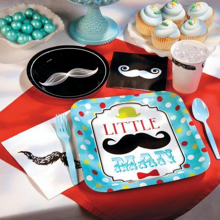 Mustache Little Man baby shower theme