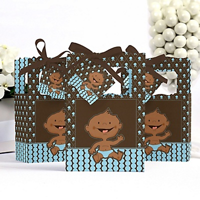 African American boy baby shower box