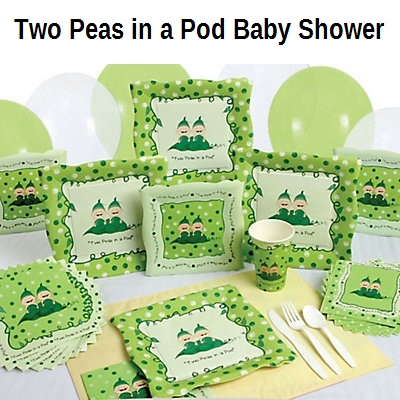 Twins 2 peas in a pod baby shower