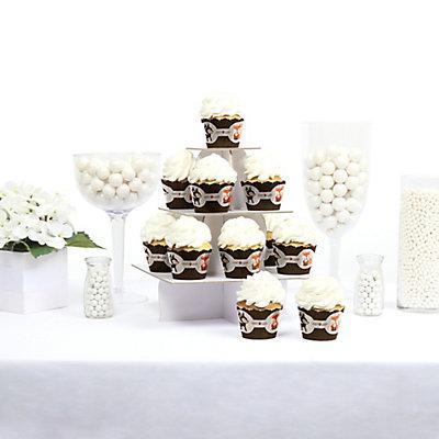 Woodland animals baby shower cupcake wraps