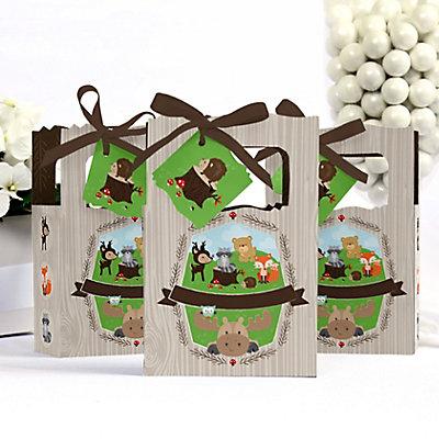 Woodland animals baby shower favor box