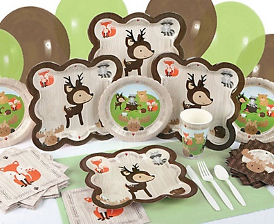 woodland creatures baby shower party kit
