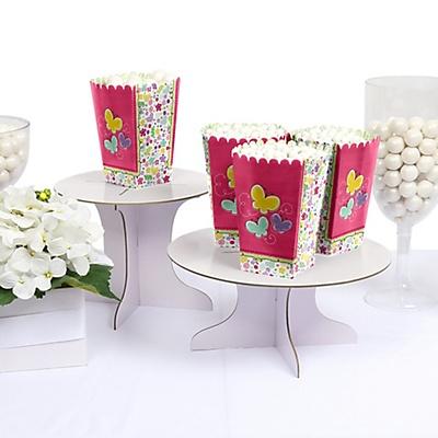 butterflies flowers baby shower popcorn treat box