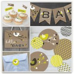 Feathering their nest bird baby shower
