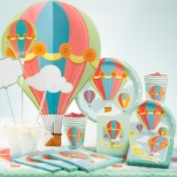 Up and away balloons baby shower supplies