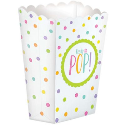 She is about to pop baby shower popcorn favor boxes