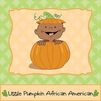 African American Little Pumpkin baby shower supplies