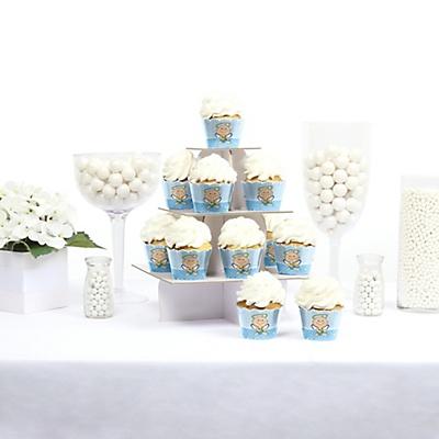 Boy angel baby shower cupcake holders