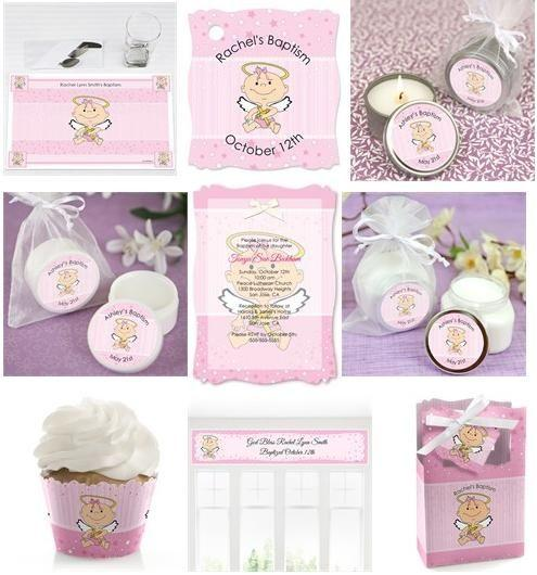 Pink Angel baby shower theme