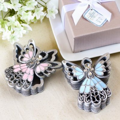 angel baby shower trinket box favors