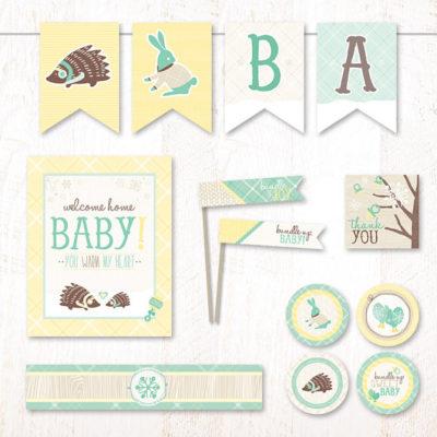 instant download winter baby shower supplies