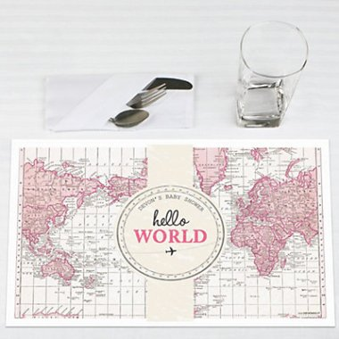 precious cargo pink party place mat