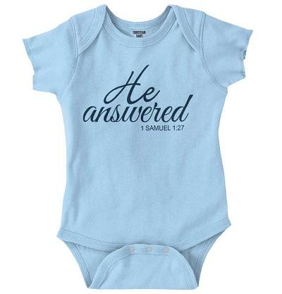 Christian baby boy onesie