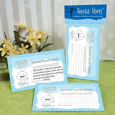 Custom baby shower advice card games boy